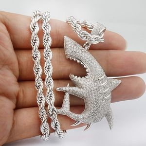 Other - Hip Hop Shark Necklace, Long Chain Punk Jewelry